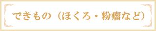 できもの(ほくろ・粉瘤など)